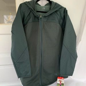 Dark Green The North Face Light Jacket XL